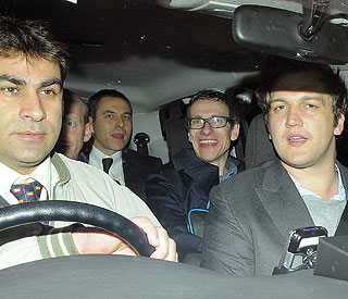 Lads night out as David Walliams celebrates stag do
