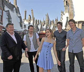 Emma Watson joins co-stars at Harry Potter resort