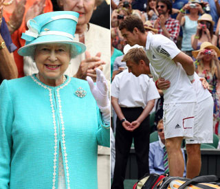 Queen cheers on Andy Murray to win at Wimbledon