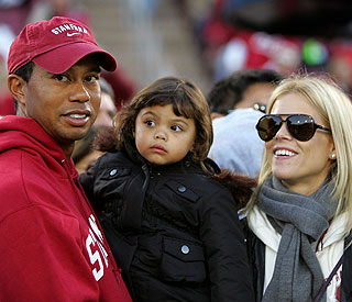 Tiger Woods and Elin together for daughter's birthday