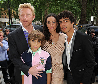 Boris Becker and cute sons mark tennis anniversary