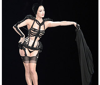 Dita's strip-Teese for Gaultier's 'hot' couture show