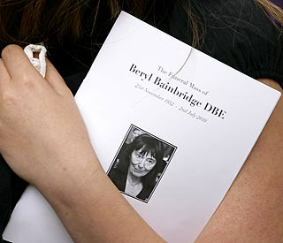 Mourners bid farewell to author Dame Beryl Bainbridge