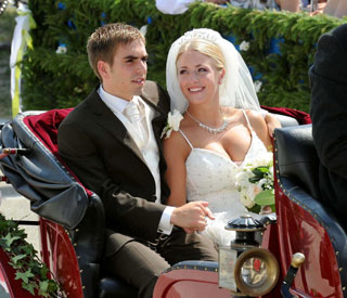 Germany captain Philipp Lahm's fairytale nuptials