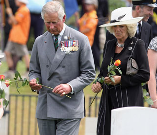 Prince Charles and Camilla honour fallen soldiers