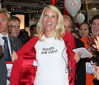 Princess Mette-Marit flashes for a good cause