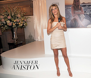 Jennifer Aniston displays faultless figure at launch
