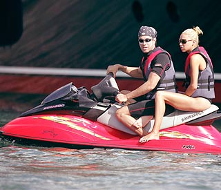 Water skiing naked may put Enrique in hot water