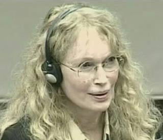 Mia Farrow takes the stand in war crimes trial