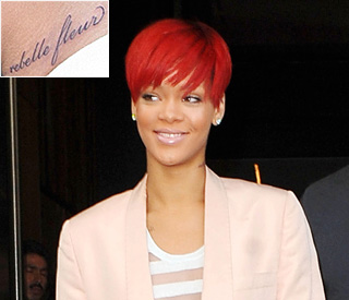 Rihanna reveals her latest tattoo