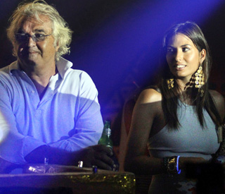 New dad Flavio Briatore parties in A-list company