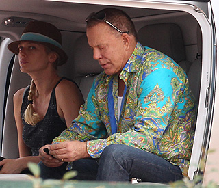 Ready for take-off: Mickey Rourke travels in style