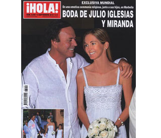 First pics of Julio Iglesias' intimate wedding blessing