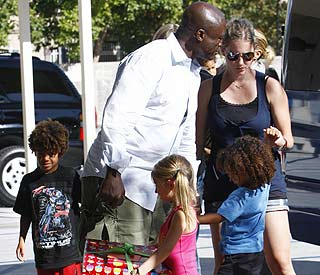 Seal and Heidi's kids enjoy Romeo Beckham's birthday