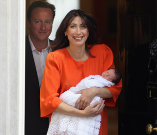 Proud Samantha Cameron shows off baby Florence