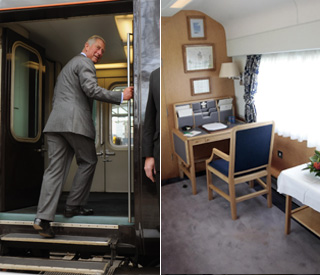 Prince Charles gives rare glimpse inside the Royal Train