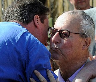 David Cameron rushes to France after father falls ill