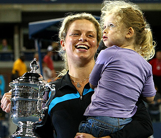 Victory at US Open for 'Tennis Mama' Kim Clijsters