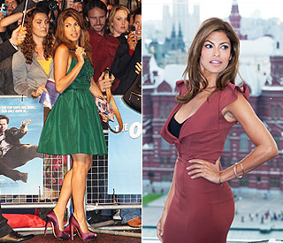 Eva Mendes on bombshell form from East to West