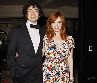 Christina Hendricks supports husband at premiere