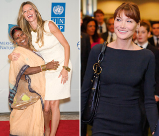 Gisele and Carla Bruni bring glamour to UN summit