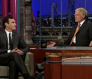Joaquin Phoenix returns to Letterman with an apology