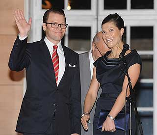 Victoria takes Prince Daniel on first overseas visit