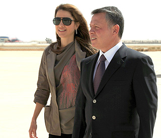 King Abdullah welcomes his beloved Rania home