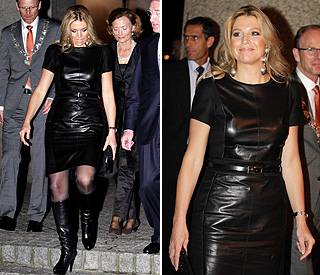 Leather-clad Princess Maxima releases inner rocker