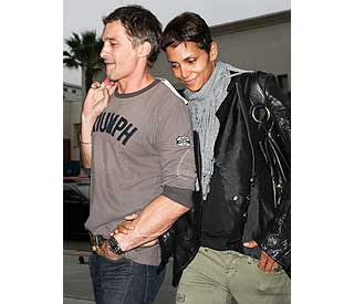 California dreaming: Halle and Olivier enjoy LA date