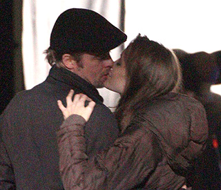 Angelina's kiss for Brad as film permit is granted