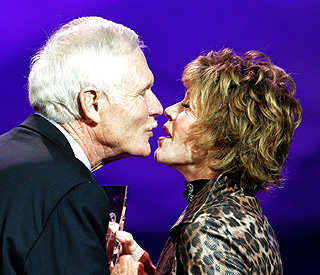 Still sizzling at 72, Jane Fonda shares kiss with ex