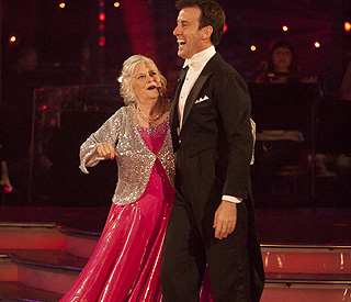 Strictly star Ann Widdecombe does a disappearing act