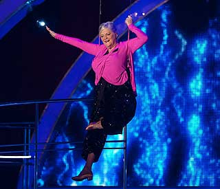 Ann Widdecombe flies in 'with the greatest of ease'