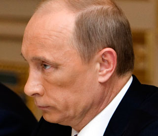 Mystery surrounds Vladimir Putin's black eye