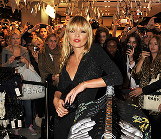 Glam Kate Moss launches final Topshop collection