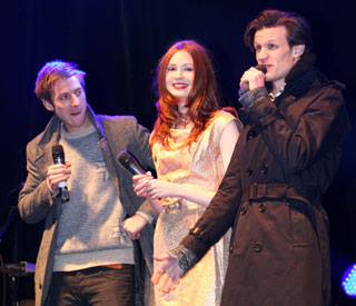 Doctor Who's Matt Smith illuminates Cardiff