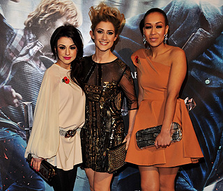 'X Factor' girls go glam for 'Harry Potter' screening