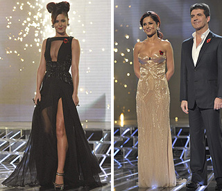 Cheryl Cole ups the ante with cleavage-bearing gowns