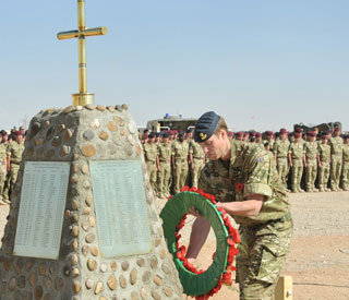 Prince William in Afghanistan to salute fallen comrades