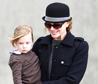 Double act: Nicole Kidman and her mini-me daughter