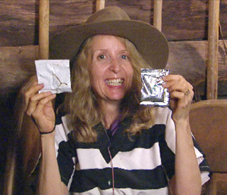 Gillian McKeith hands over jungle contraband