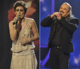 Double trouble: 'X Factor's Katie and Wagner go home