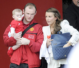 United Coleen and Wayne Rooney christen baby Kai