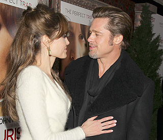 The look of love: Brad and Angelina hit New York