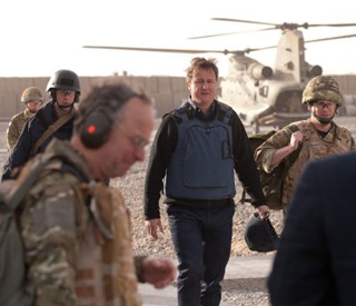 Flak-jacketed David Cameron in secret Afghan trip