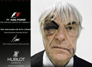 Mugging inspires Bernie Ecclestone's new watch ad