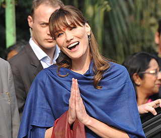 Carla Bruni on India trip: 'it's like a dream'
