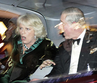 Protestors attack car carrying Charles and Camilla