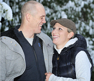 Zara Phillips' joy as couple make first appearance